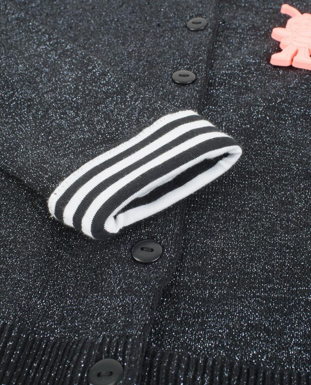 Cardigan - ZWM - Zwarte cardigan met metaaldraad Maya